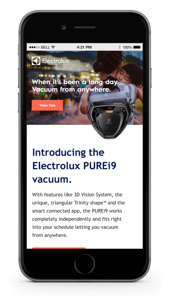 Electrolux mobile screenshot